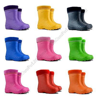 Kids Girls Boys Wellies Wellington Boots Rainy Boots EUR 22-35, UK 5-2.5