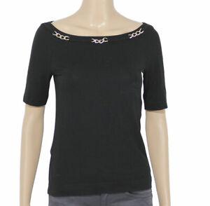 Luisa-Spagnoli-Taglia-S-Blousa-Maglia-Maglietta-T-Shirt-Girocollo-Donna