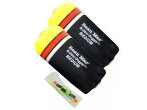 Pkg of 2 Beau-Mac Inline Slider Drift Floats Bobbers EVA Foam Core Choice Sizes