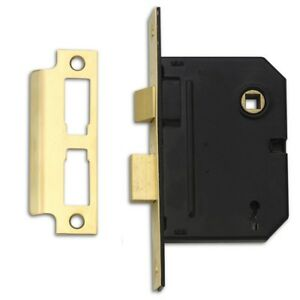 Polished Brass Fi Yale Locks PM320PB25 3 Lever Mortice Sash Lock 67mm 2.5-inch