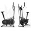 miniatura 2 - Deluxe 2-in - 1 Cross Trainer & Cyclette Allenamento di cardio fitness con sedile