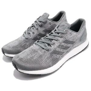 a33e3aab90f1 adidas PureBOOST DPR Knit Grey White Men Running Shoes Sneakers ...