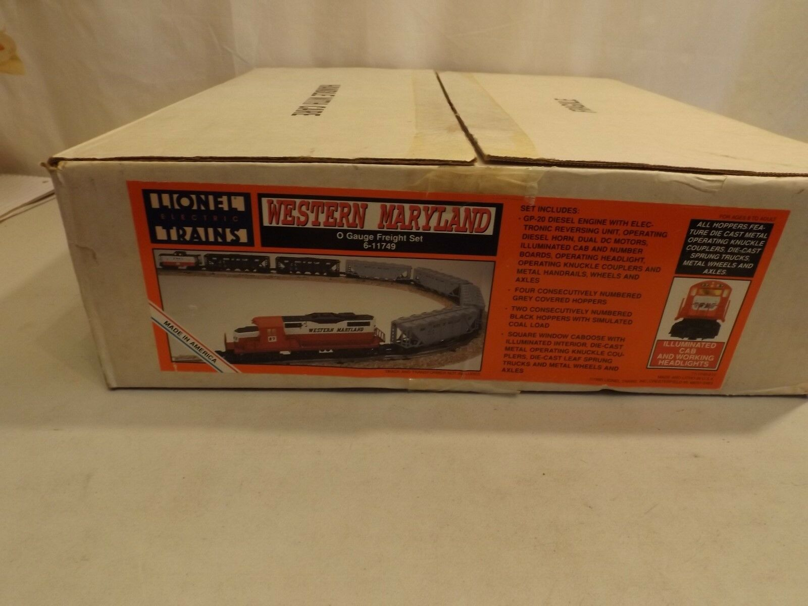 O Lionel  11749 Western Maryland freight set in original boxes