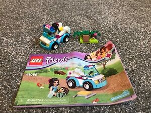 Lego 41086 Friends Vet Ambulance 100 With Instructions No Box