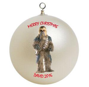 Personalized Star Wars Chewbacca Christmas Ornament | eBay