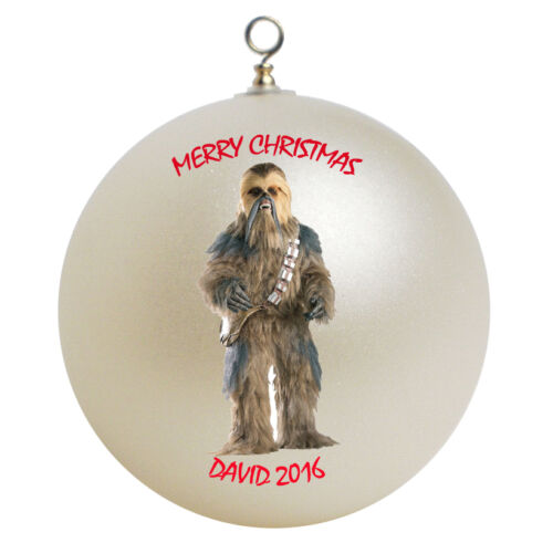 Personalized Star Wars Chewbacca Christmas Ornament