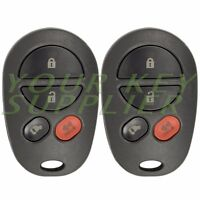 2 New Replacement Keyless Entry Remote Key Fob GQ43VT20T for Toyota Sienna
