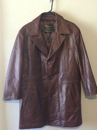 Vintage Reed Sportswear Mens Bown Leather Jacket C
