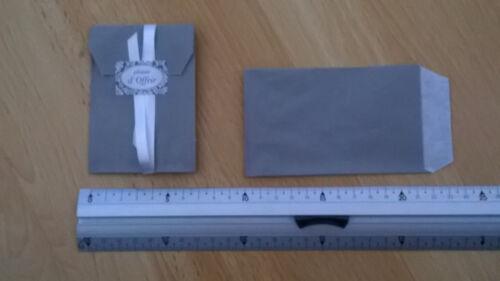 lot 25 pochettes sachets kraft bijoux cadeaux..7x13cm Gris Souris