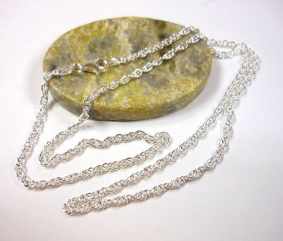 Silberkette, Kordelkette, Halskette, Kette, 925 Silber, 40-90 cm / 2,1 mm