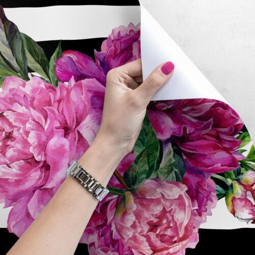 Removable wallpaper Watercolor peony self adhesive art