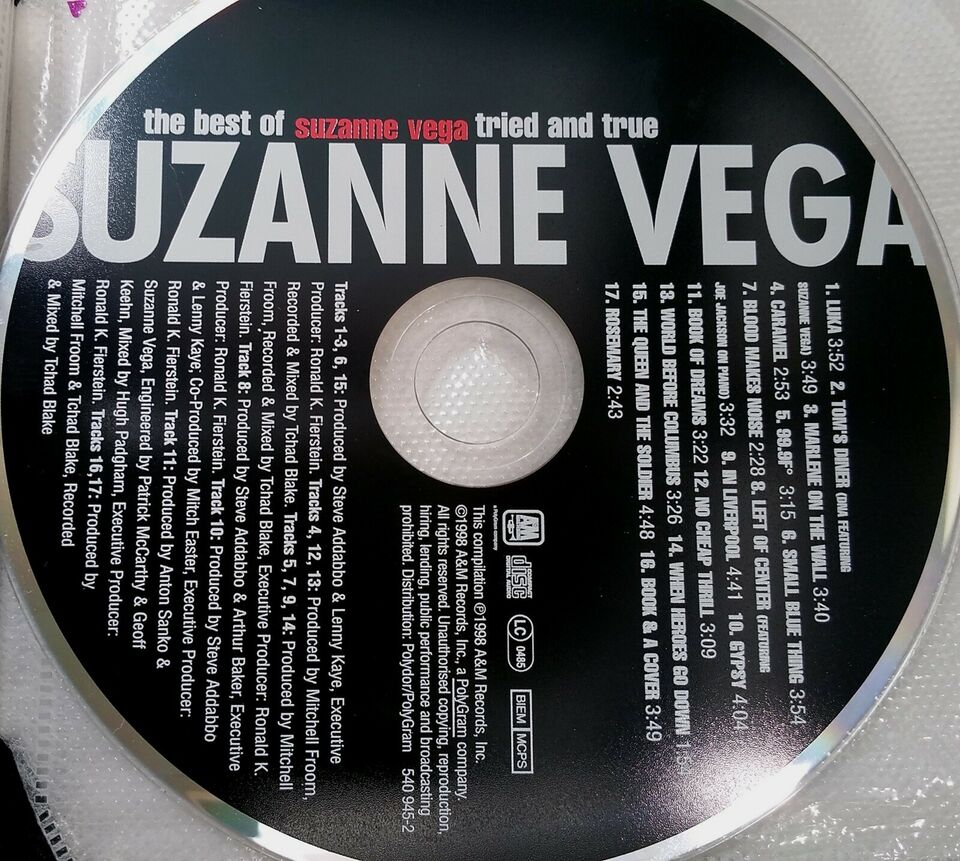SUZANNE VEGA: TRIED & TRUE *Porto 10 Kr., pop