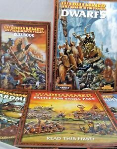 Collectible-Job-lot-of-5-Warhammer-game-workshop-paperback-books-fantasy-games