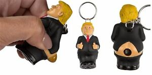 Donald Trump poop keyring president squeeze funny key chain novelty fun