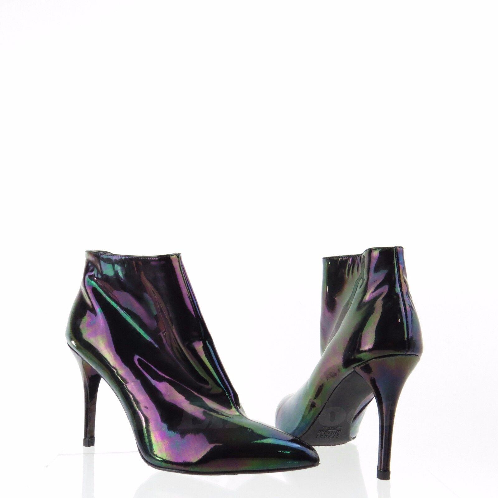 Stuart Weitzman Carltone Women's shoes Black Metallic Booties Size 7 M New  475