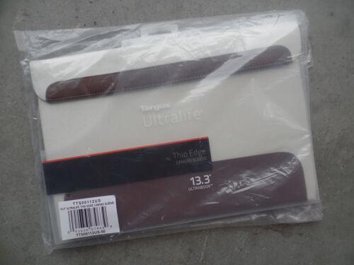 "Targus 13.3"" Ultralife Thin Edge Notebook Canvas Sleeve Case White TTS00112US"