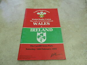 Wales v Ireland Saturday 16th February 1991  Official Programme - <span itemprop=availableAtOrFrom>Cardiff, United Kingdom</span> - Wales v Ireland Saturday 16th February 1991  Official Programme - Cardiff, United Kingdom