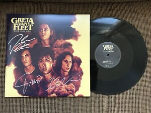 Rare Greta Van Fleet Signed Black Smoke Rising Vinyl