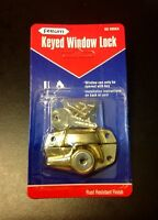 Keyed Window Lock - Set Of 6 - Brass Finish