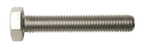 M6 x 60 Hex Head Set Screws Fully Thread Bolts A2 stainless DIN 933-10 pack