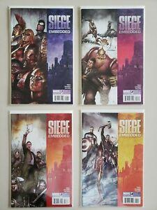 Siege-Embedded-1-2-3-4-Marvel-2010-Set-Series-Run-Lot-1-4-VF-NM