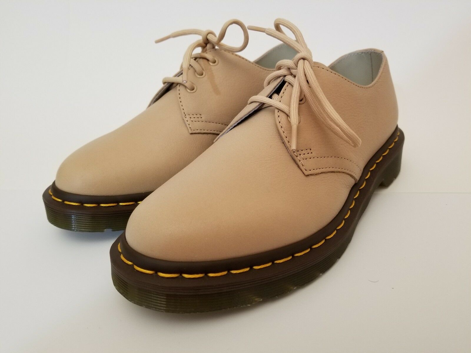 Doc Martens 1461 Taupe Virginia Tan 3 Eye Eye Eye Oxford Donna Scarpe Sz US 10 EU 42 New d0505c