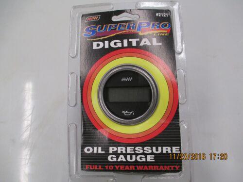 """Make Waves brand Digital Engine Oil Pressure Gauge #2121 2 1//16/"""" Diameter"""