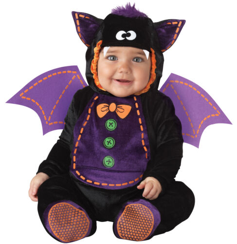 Baby Bat Infant Wings Costume Hooded Jumpsuit With Plush Tuft Incharacter