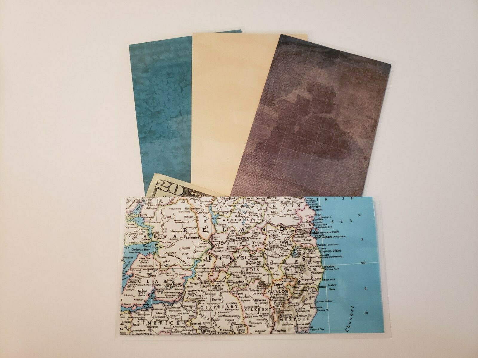 Cash Envelopes Budget System Dave Ramsey Inspired Wallet Stationary Maps #267