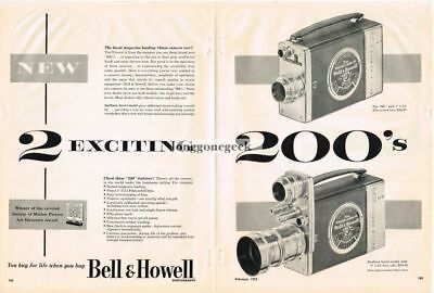 """Merchandise & Memorabilia 1952 Bell & Howell 16mm """"200"""" Movie Camera Swifturn Centerfold Vtg Print Ad Fixing Prices According To Quality Of Products"""