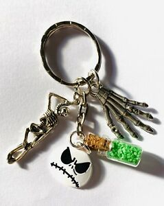 A-NIGHTMARE-BEFORE-CHRISTMAS-KEYRING-Jack-Necklace-Key-Chain-Handbag-Charm-Pagan