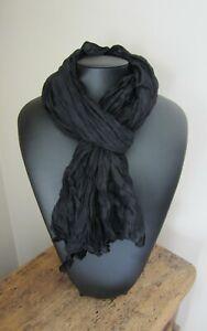 Foulard-cheche-noir-90-X-180cm-Hommes-femmes-100-coton
