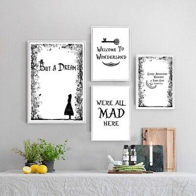Art Print POSTER CANVAS Alice In Wonderland #9