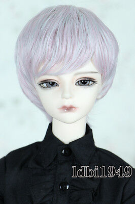 "1/3 8-9""LUTS BJD SD LUTS MSD DOD DD Dollfie Doll Wig Pink mix Gray Hair"