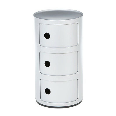 Componibili Round Storage Module  White by  Kartell