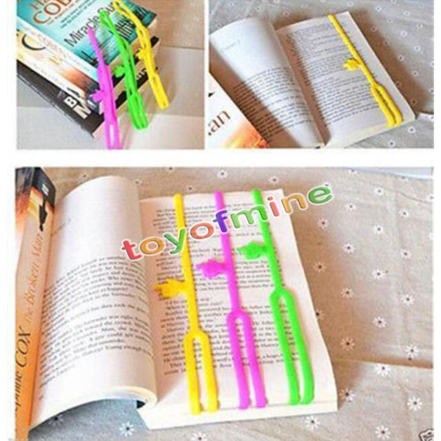 3pcs Lovely Silicone Finger Pointing Bookmark Book Marker Novelty Office Supply