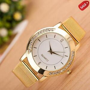 Fashion-Women-Crystal-Golden-Stainless-Steel-Analog-Quartz-Wrist-Watch