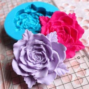 Wedding Flower Rose Fondant Cutter Cake Molds Silicone Cupcake Mould Sugarcraft