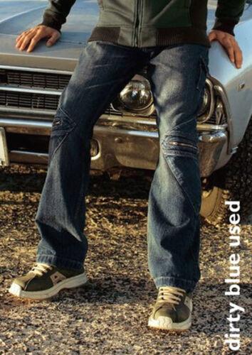 NUOVO Trasparente uomo 5 tasche jeans Cool Zipper 44 Arizona light blue used 846135