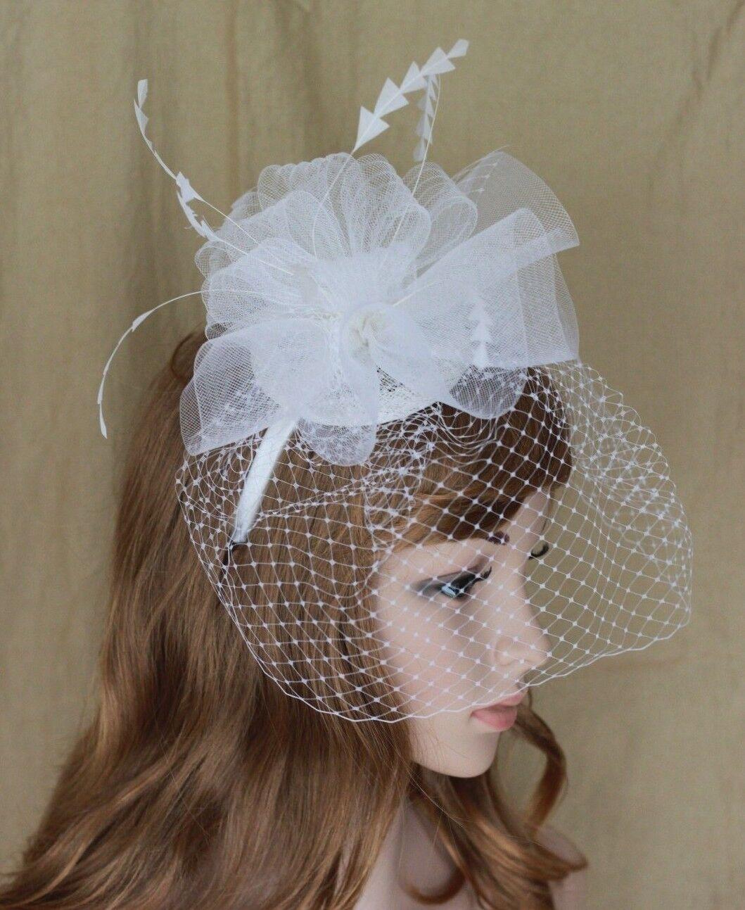 Burgundy Derby Church Cocktail Wedding Fascinator Hat w//Headband N27