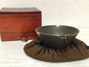 Y1787-CHAWAN-Iraho-kintsugi-box-Japanese-bowl-pottery-Japan-tea-ceremony