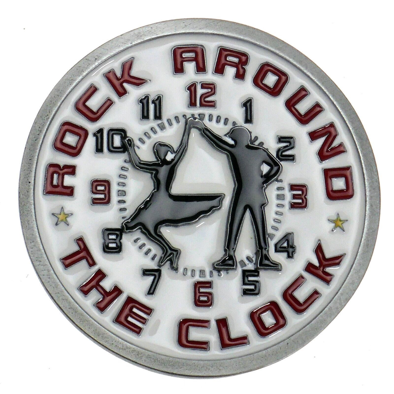 Buckle Rock Around The Clock Rock and Roll Dancing Gürtelschnalle