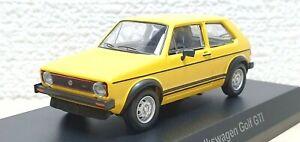 Kyosho-1-64-VW-VOLKSWAGEN-GOLF-GTI-MK1-YELLOW-diecast-car-model