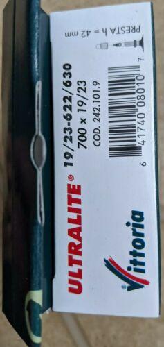 Vittoria Bicycle Tube Ultra Lite 700 x 19-23  Presta Valve 42mm Vittoria PV Tube