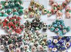 100 50 10pcs 8 10 12mm round Filigreed enamel cloisonne spacer loose beads