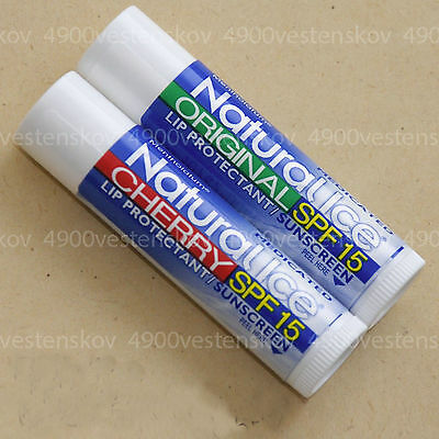 1/ 2pc Mentholatum Natural Ice Medicated Lip balm Protectant SPF Original Cherry