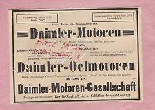 BERLIN-MARIENFELDE, Werbung 1911, Daimler-Motoren-Gesellschaft Öl-Motoren