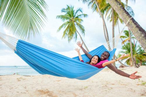 Amazonas Hängematte XXL Tuchhängematte bis 200 KG Arte blau rot sand zur Auswahl