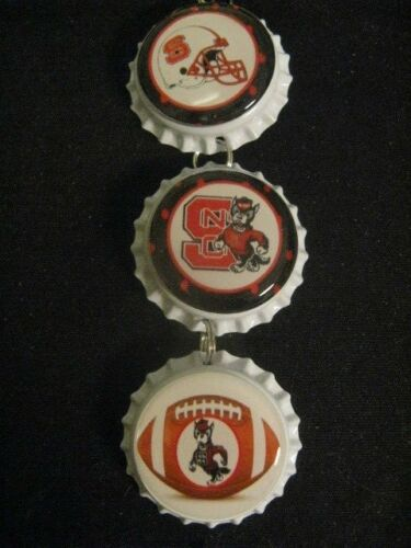 "1"" Bottle Cap Image Inside RView Mirror Handcrafted Gift Idea Wolfpack"