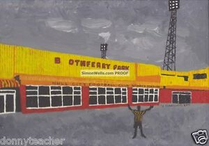 Hull City Boothferry Park Limited edition A3 silk/gloss poster of Original art
